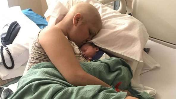 Mom diagnosed with rare breast cancer during pregnancy delivers 'miracle' baby boy