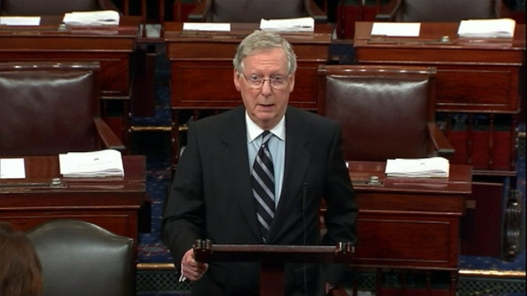 Senate Majority Leader McConnell backs off, abruptly eases impeachment trial limits