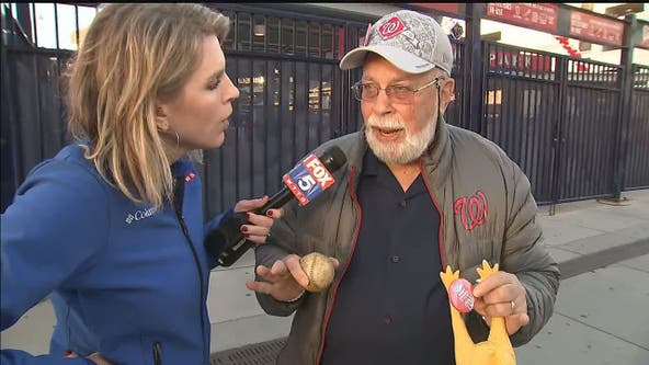 'Rubber Chicken Man' Hugh Kaufman's dream for a Washington Nationals World Series trip comes true