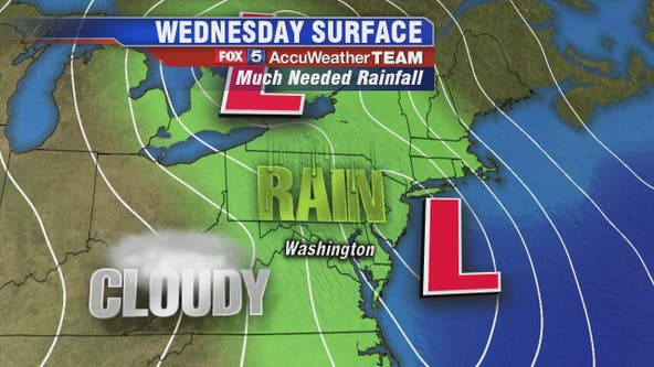 Much-needed rain to arrive in DMV Wednesday morning, heavy rain expected during evening commute