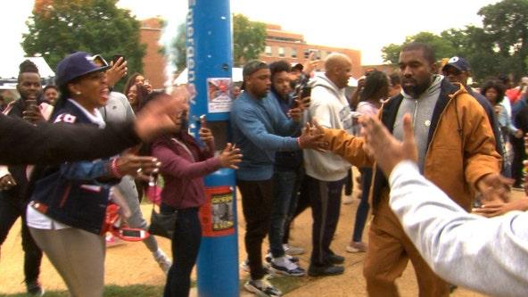 "Kanye West surprises Howard U. with ""Sunday Service"" concert"