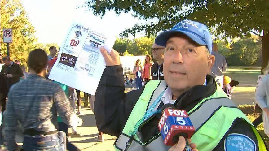 School crossing guard, die-hard Washington Nationals fan, surprised with tickets to World Series
