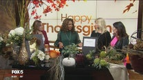 Thanksgiving decor on Fox 5 Morning News Saturday