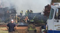 Gas explosion destroys home in Charles Town, West Virginia
