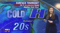 Chilly temperatures in the 40s Thursday