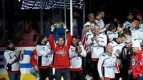 'District of Champions:' Nationals take honorary Zamboni ride at Caps game