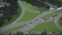 VDOT unveils new diverging diamond interchange in Stafford County