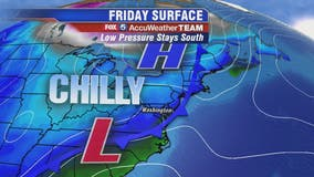 Cool, mostly sunny Friday with temps in the 50s; chilly, breezy weekend ahead