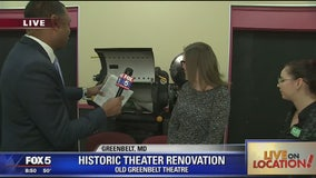 Inside the Old Greenbelt Theatre renovation