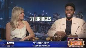 21 Bridges stars Sienna Miller and Chadwick Boseman
