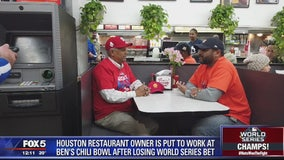 Houston restaurateur makes good on bet