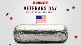 Businesses offer free meals, discounts on Veterans Day in gesture of thanks to those who have served