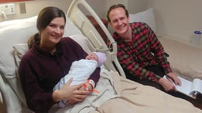 Couple who met on Halloween in college and got engaged on Halloween have first child on Halloween