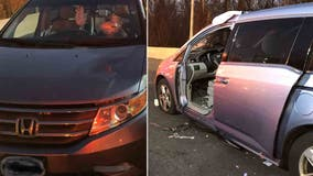 Driver struck by metal debris on Capital Beltway after it flew through windshield