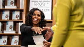 Michelle Obama signs 'Becoming' copies at DC bookstore on book's anniversary