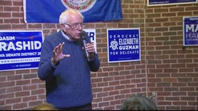 Bernie Sanders rallies Democrats in Virginia ahead of Tuesday election
