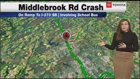 Crash involving school bus reported in Montgomery County
