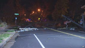 Winds bring down power lines in Alexandria area leaving some without power Thanksgiving morning
