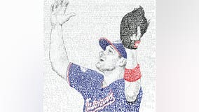 Word artist creates piece that pays tribute to the World Series champion Washington Nationals
