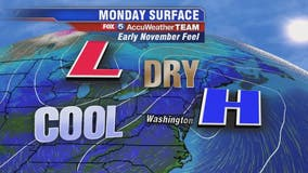 Cool, sunny and dry Monday with highs in the 60s