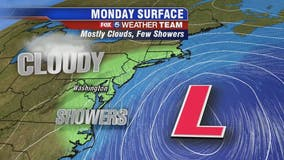 Chilly, cloudy and patchy drizzle across parts of DC region Monday
