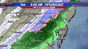 Flakes possible Tuesday morning as early winter blast hits DC region