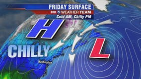 Chilly, breezy morning for Black Friday shoppers; wet weather moves in for weekend