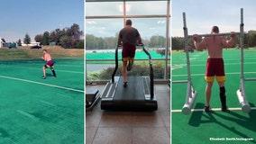 Alex Smith's wife post video of him running, training on 1-year anniversary of broken leg