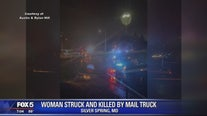 81-year-old woman struck, killed by USPS mail truck in Silver Spring, police say
