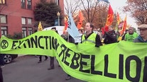 Climate change protesters march through DC streets, cause traffic gridlock