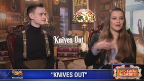Katherine Langford, Rian Johnson talk Knives Out