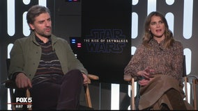 Keri Russell, Kelly Marie Tran and the stars of Star Wars: The Rise of Skywalker