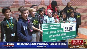 Redskins star Landon Collins surprises kids from local sports group with spending spree
