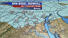 Monday morning snow causing traffic delays, school closings across DC region