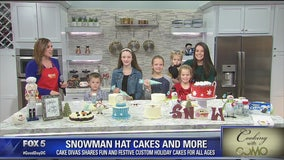 Snowman hat cakes and more with Cake Divas and her kids