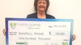 Mistake leads to $100,000 win for Fauquier County woman
