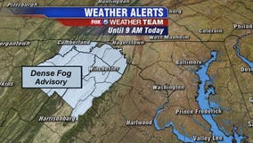 Morning fog, showers Monday with mild temperatures in the mid-60s