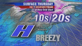 Brrrr! Bitter cold temps Thursday; warmer trend expected through Christmas