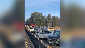 69-car pileup on Interstate 64 sends dozens to hospital near Williamsburg