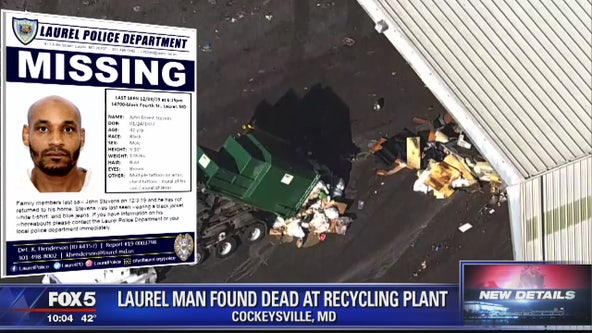 Laurel man found dead at recycling plant