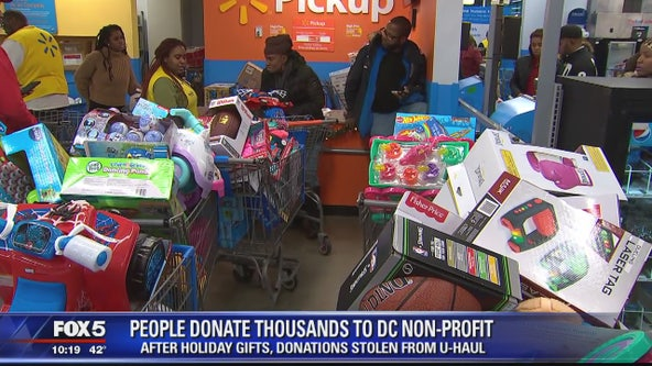 People donate thousands to DC non-profit after holiday gifts stolen from U-Haul