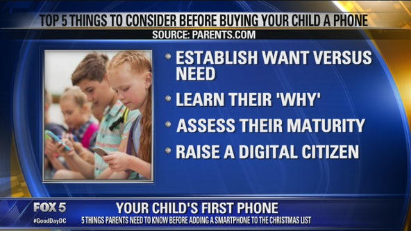 Top 5 things to consider before buying your child a phone