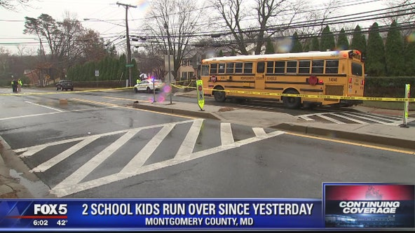 2 kids struck at bus stops in Montgomery County in less than 24 hours