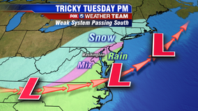 First snow of 2020 to impact Tuesday afternoon commute
