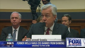 Former Wells Fargo CEO banned from banking