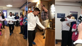 Well-wishers cheer as Akron teen rings hospital's bell to mark end of chemo