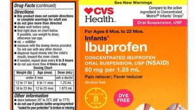 Ibuprofen drops recalled in 2019, 2018 have expired, but can still be returned, company says