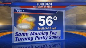 Foggy Wednesday morning, mild afternoon; cold temps return late week ahead of Saturday winter weather
