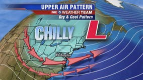 Cloudy as temps stay above freezing Monday evening; tracking chance of weekend rain, snow