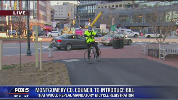 Montgomery County Council to introduce bill that would repeal mandatory bicycle registration